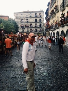 Before the Running of the Bulls in a small Spanish town